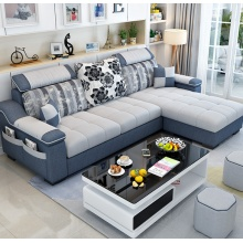 简约现代布艺沙发小户型客厅家具整装组合可拆洗转角三人位布沙发